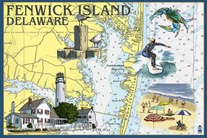 Fenwick Island, Delaware - Nautical Chart by Lantern Press