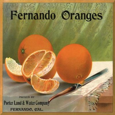 Covina Los Angeles Foothill Pansy Orange Citrus Fruit Crate Label Art Print