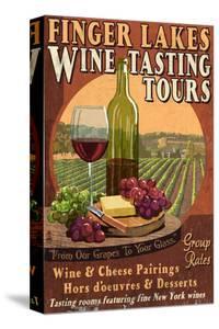 Finger Lakes, New York - Wine Tasting by Lantern Press