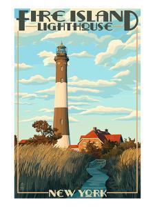 Fire Island Lighthouses - Captree Island, New York by Lantern Press