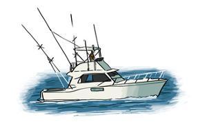 Fishing Boat - Icon by Lantern Press