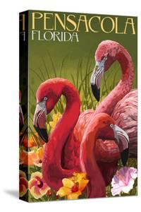 Flamingo - Pensacola, Florida by Lantern Press