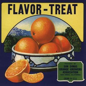 Flavor Treat Brand - San Dimas, California - Citrus Crate Label by Lantern Press