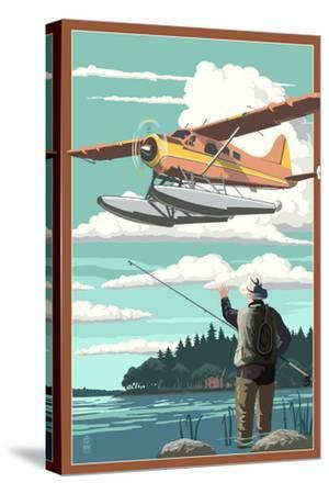Float Plane and Fisherman
