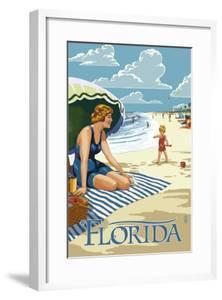 Florida - Beach Scene by Lantern Press