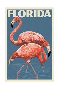 Florida - Flamingo by Lantern Press