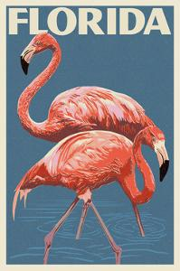 Florida - Flamingo by Lantern Press