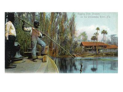 Florida - Gigging from a Ocklawaha River Steamer