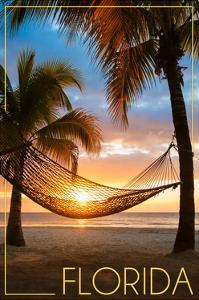 Florida - Hammock and Sunset by Lantern Press