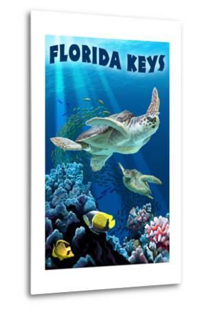 Florida Keys, Florida - Sea Turtle Swimming
