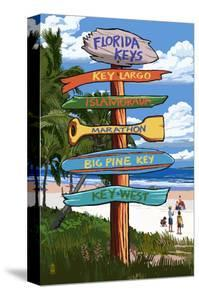 Florida Keys - Sign Destinations by Lantern Press