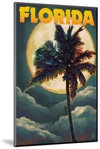 Florida - Palm Tree and Full Moon by Lantern Press