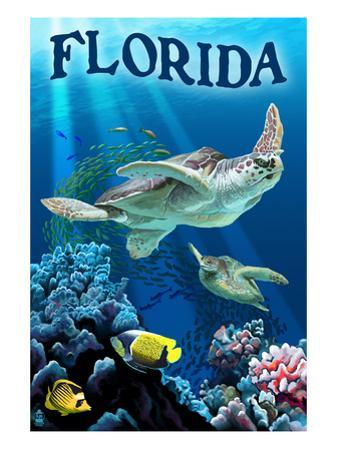 Florida - Sea Turtles by Lantern Press