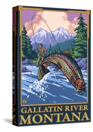 Fly Fishing Scene, Gallatin River, Montana