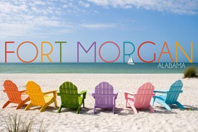 Fort Morgan, Alabama - Colorful Beach Chairs