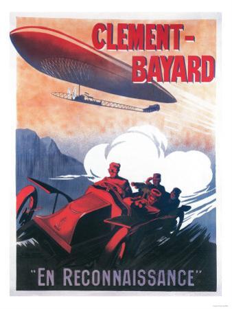 France - Adjudant Vincenot WWI Airship Promotional Poster by Lantern Press