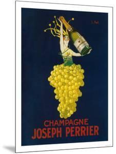 France - Joseph Perrier Champagne Promotional Poster by Lantern Press