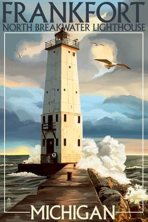 Frankfort Lighthouse, Michigan by Lantern Press