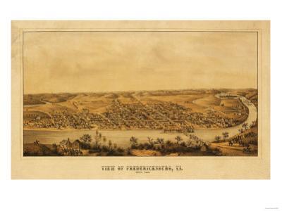 Fredericksburg, Virginia - Panoramic Map by Lantern Press