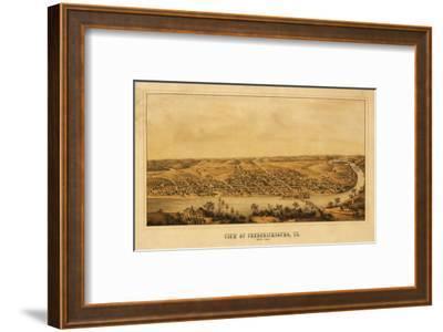 Fredericksburg, Virginia - Panoramic Map