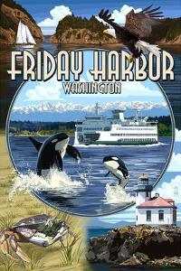 Friday Harbor, San Juan Island, WA - Scenes by Lantern Press