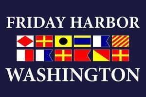 Friday Harbor, Washington - Nautical Flags by Lantern Press