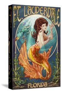 Ft. Lauderdale, Florida - Mermaid Scene by Lantern Press