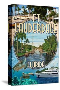 Ft. Lauderdale, Florida - Montage by Lantern Press