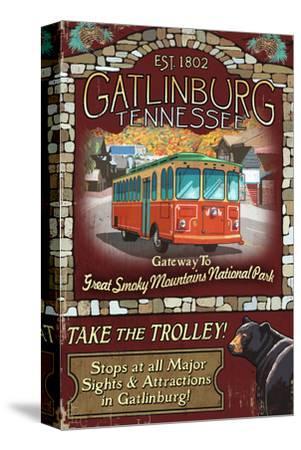 Gatlinburg, Tennessee - Trolley