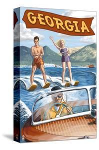 Georgia - Water Skiing Scene by Lantern Press