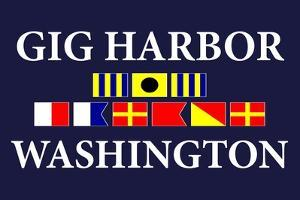 Gig Harbor, Washington - Nautical Flags by Lantern Press