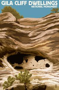 Gila Cliff Dwellings National Monument, New Mexico by Lantern Press