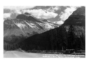 Glacier Nat'l Park, Montana - Going-to-the-Sun Hwy View by Lantern Press