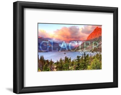Glacier National Park, Montana - St. Mary Lake and Sunset