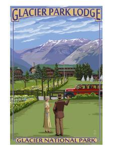 Glacier Park Lodge - Glacier National Park, Montana by Lantern Press