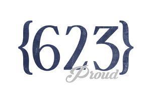 Glendale, Arizona - 623 Area Code (Blue) by Lantern Press