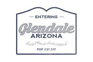 Glendale, Arizona - Now Entering (Blue) by Lantern Press