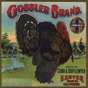 Gobbler Brand - Exeter, California - Citrus Crate Label by Lantern Press