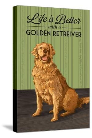 Golden Retreiver - Life is Better