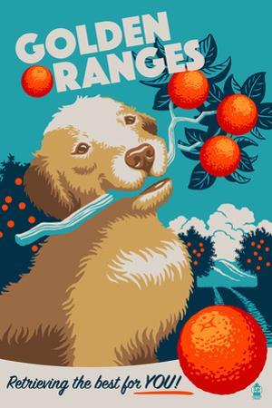 Golden Retriever - Retro Oranges Ad