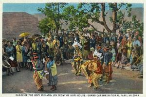 Grand Canyon Nat'l Park, Arizona - Dance of the Hopi in front of Hopi House by Lantern Press