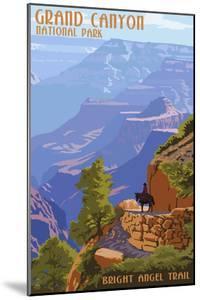Grand Canyon National Park - Bright Angel Trail by Lantern Press