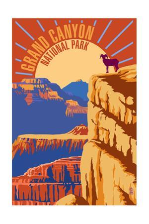 Grand Canyon National Park - Psychedelic by Lantern Press