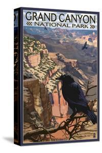 Grand Canyon National Park - Ravens at South Rim by Lantern Press