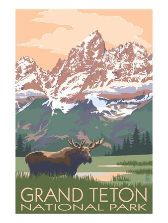 Grand Teton National Park - Moose and Mountains