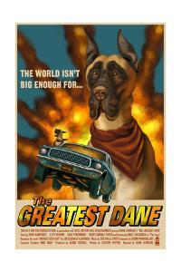 Great Dane - Retro Movie Ad by Lantern Press