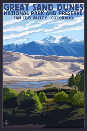 Great Sand Dunes National Park and Preserve, Colorado by Lantern Press