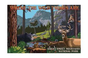 Great Smoky Mountains National Park - Where the Wild Things are - Utopia by Lantern Press
