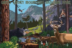 Great Smoky Mountains National Park - Wildlife Utopia by Lantern Press
