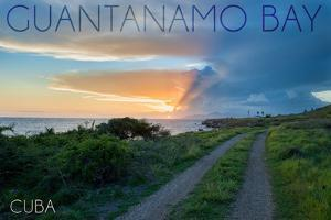Guantanamo Bay, Cuba - Lighthouse in the Distance by Lantern Press
